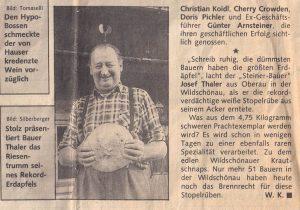 Kurier Artikel 1990